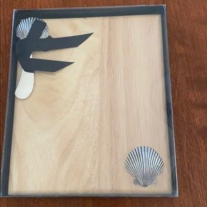 Wooden Cheese Board - Coastal Inspired.